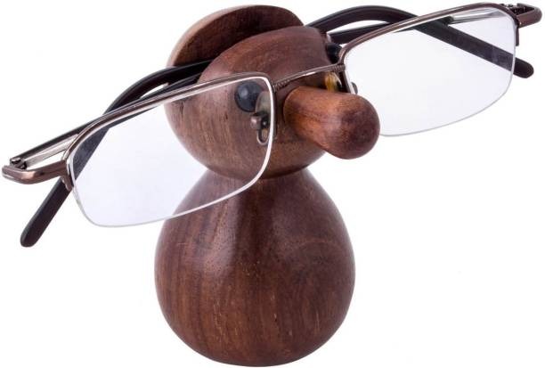 WoodCart 1 Compartments H@ndmade Spectacle Specs Eyeglass Holder Stand Display Stand Doll Shape Specs Holder