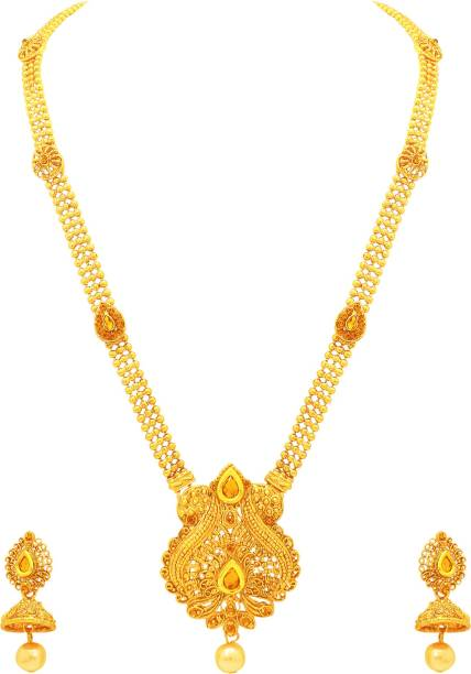 set haaram necklaces jewellery a svtm long necklace online gold indian antique design