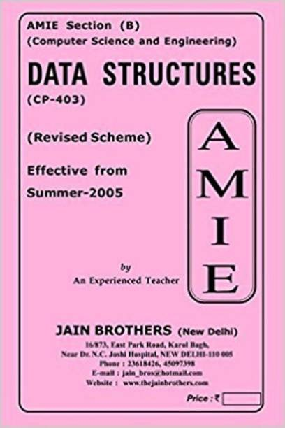 AMIE-Section (B) Data Structures (CP-403) Computer Science And Engineering Solved And Unsolved Paper