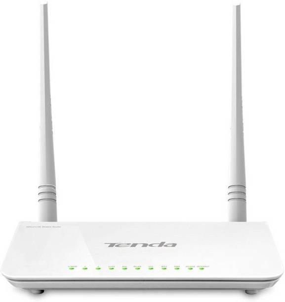 indoplus TENDA TE D 303 N300 ADSL2+ Modem Router with USB port Router  White  Router