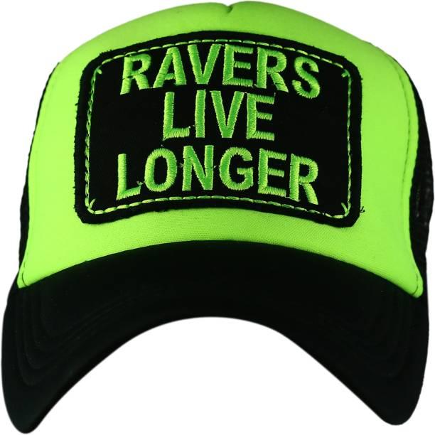 0e61d0a4e1da81 Spike Me RAVERS LIVE LONGER BLACK & NEON GREEN Half Mesh Trucker Cap with  Adjustable Snap