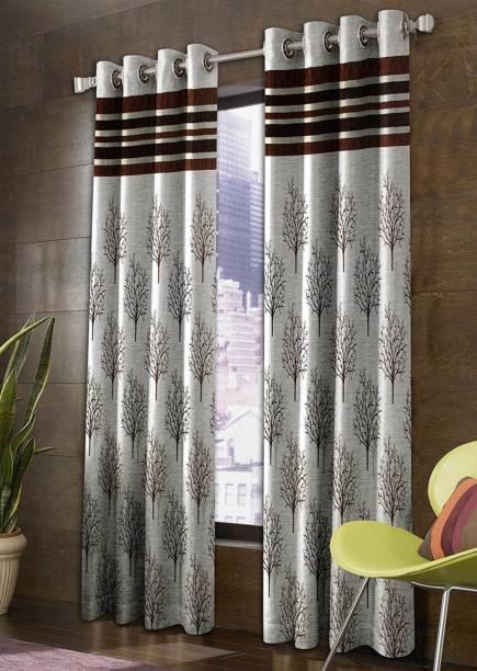 Panipat Textile Hub 150 cm (5 ft) Jacquard Window Curtain (Pack Of 2)