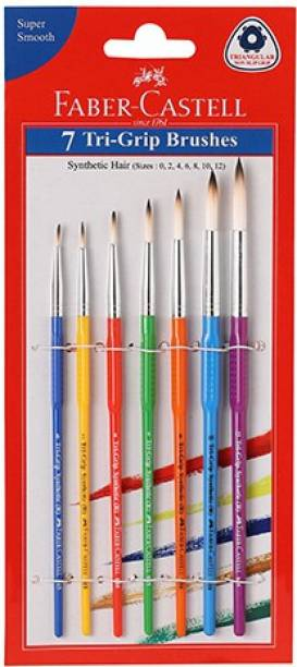 FABER-CASTELL 7 Tri- Grip Brushes (Round)