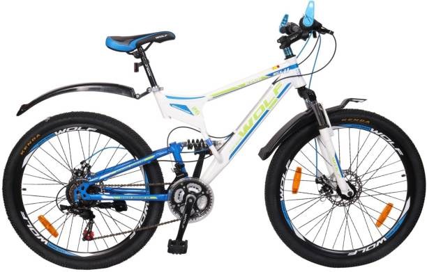 359daeaa4d0 WOLF King Dual Shox   Dual Disc Bicycle For Adluts 26 T Mountain Cycle