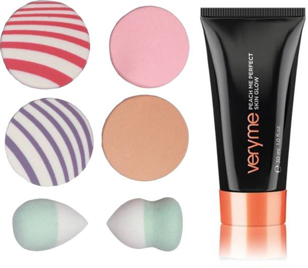 Oriflame Sweden Very Me Peach Me Perfect Skin Glow (Light - 20529) With Puff Sponge