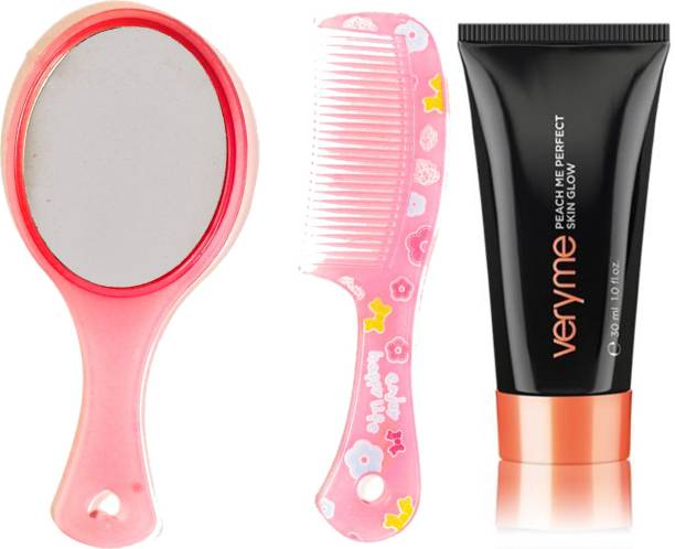 Oriflame Sweden Very Me Peach Me Perfect Skin Glow (Light - 20529) With Mirror Comb Set
