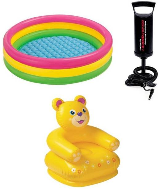 KT BROTHERS Plastic Inflatable Chair