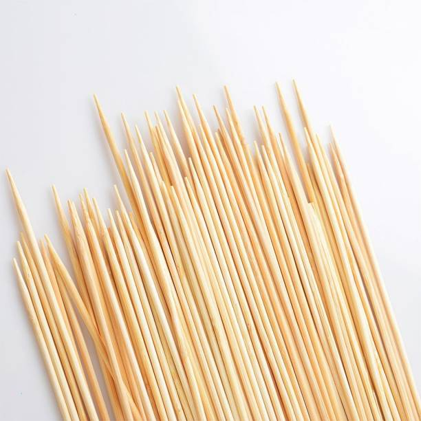 JAMBOREE Bamboo Skewers Chocolate Fountain Wooden Fruits BARBECUE Kebab Stick Party Buffet Food Disposable Wood Roast Fork Set