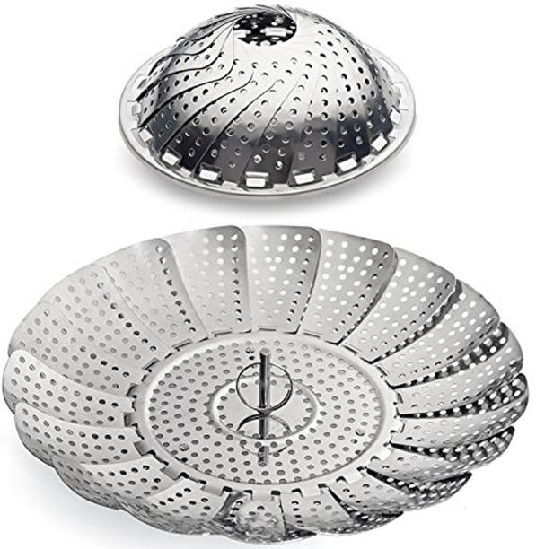 """SYGA SYGA 100% Stainless Steel Vegetable Steamer Basket / Insert for Pots, Pans, Crock Pots & more... 6.3"""" to 10.3"""" Stainless Steel Steamer"""