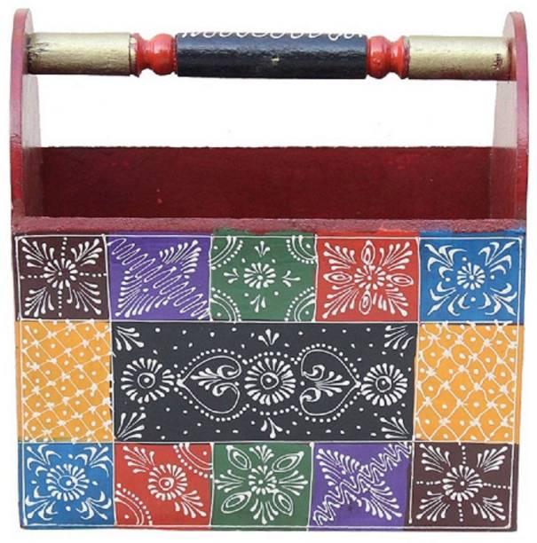 Apkamart Handicraft Magazine Organiser - Decorative Paper Holder for Home Decoration and Gifts Table Top Magazine Holder