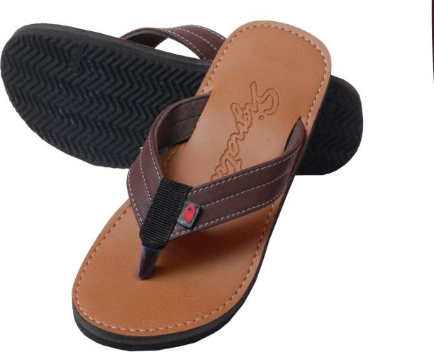 03698ccfe3e Signature MENS CASUAL BROWN THONG Slippers