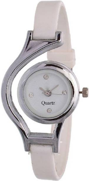 af83d7c0fe96 PMAX WHITE All Time Hitt And Running Simple And Sobber Looking Analouge  Watch - For Girls