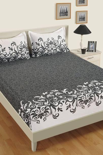 SWAYAM 240 TC Cotton Double Floral Bedsheet