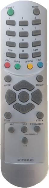 LipiWorld 6710V00140E Universal Remote Control Compatible For  CRT TV LG Remote Controller