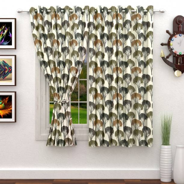 StoryHome 152 Cm 5 Ft Polyester Window Curtain Pack Of 2