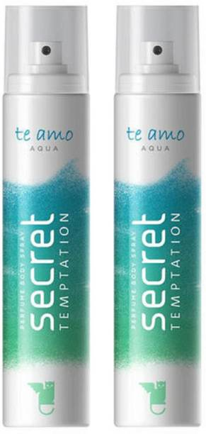 secret temptation Te Amo Aqua Perfume Body Spray Pack of 2 Combo (120ML each) Perfume Body Spray  -  For Women