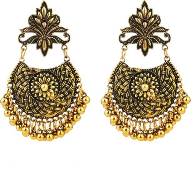 7016670ed Divastri Oxidized Golden Indian Traditional Collection Chandbali Fancy  Party Wear Earrings Metal Chandbali Earring