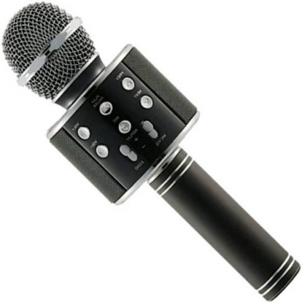 techdeal WS-858 Wireless Handheld Bluetooth Mic with Speaker (Bluetooth Speaker) Audio Recording