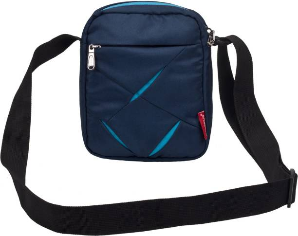 Cosmus Men Casual Blue Polyester Sling Bag