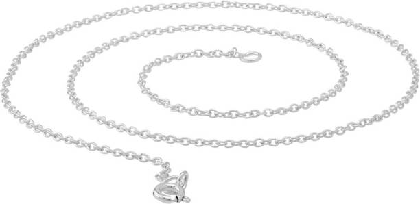 designer dp necklace chain chocker flat with anklet solid stamped sterling jewellery bracelet chains clasp amazon silver thick curb com italian spring ring