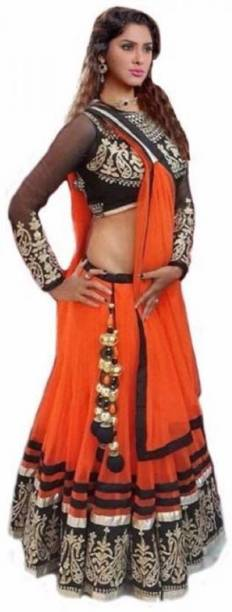 a61ec1c3a74899 Orange Lehenga Cholis - Buy Orange Lehenga Cholis Online at Best ...