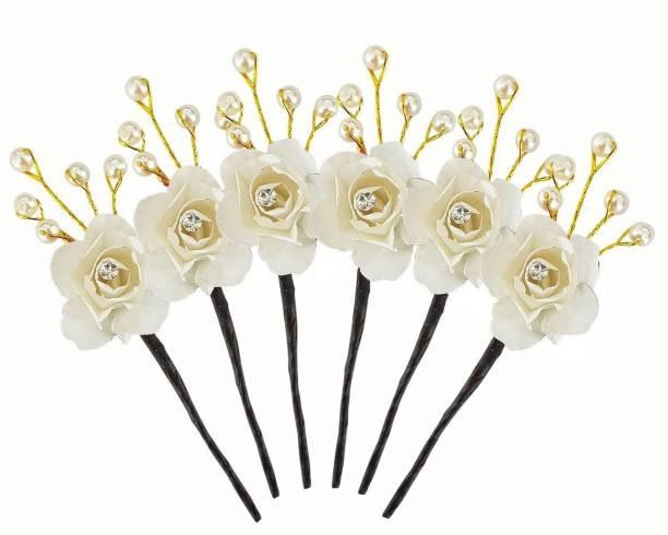 53db9b0450 Confidence Hair Pins For Wedding Juda Hair Pins Bun Maker Hair Pins – 6 Pcs  -