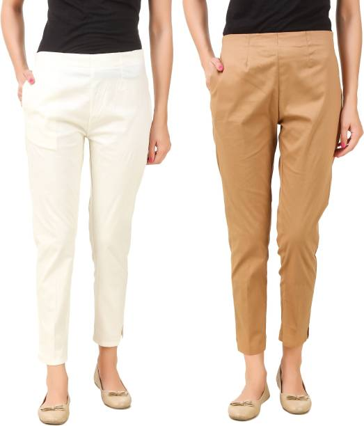 c159b26a4f5 Cream Trousers - Buy Cream Trousers Online at Best Prices In India ...