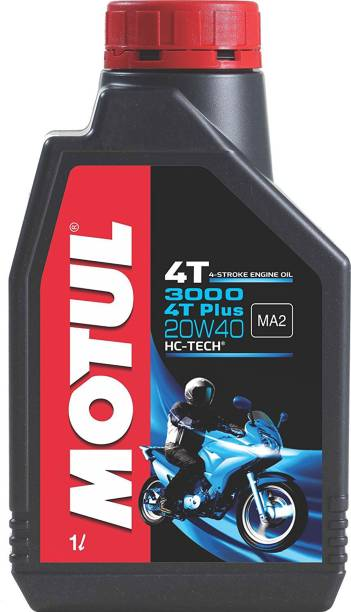 MOTUL 3000 4T Plus 20W40 HC Tech Engine Oil for Bikes Conventional Engine Oil