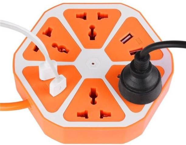 Ritzees USB HEXAGON-ORG 8 A Three Pin Socket