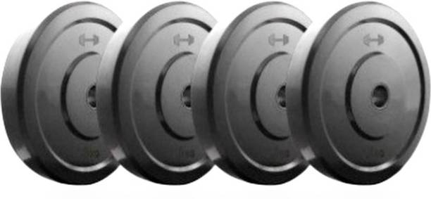 Monika Sports GYM FITNESSS 1 KG of 4 DUMBBELL PLATES Black Weight Plate