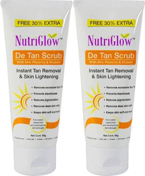 NutriGlow DE-TAN Face Scurb (Pack of 2) Scrub