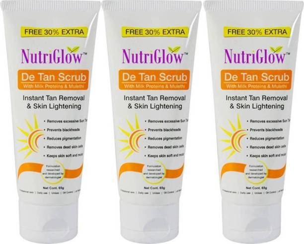 NutriGlow DE-TAN Face Scurb (Pack of 3) Scrub