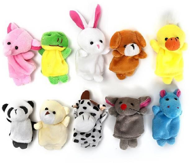 Skylofts Set of 10 Animal Finger Pupepts Soft Toys Finger Puppets