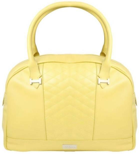 Oriflame Fashion Hand Bag Yellow Waterproof Weekender