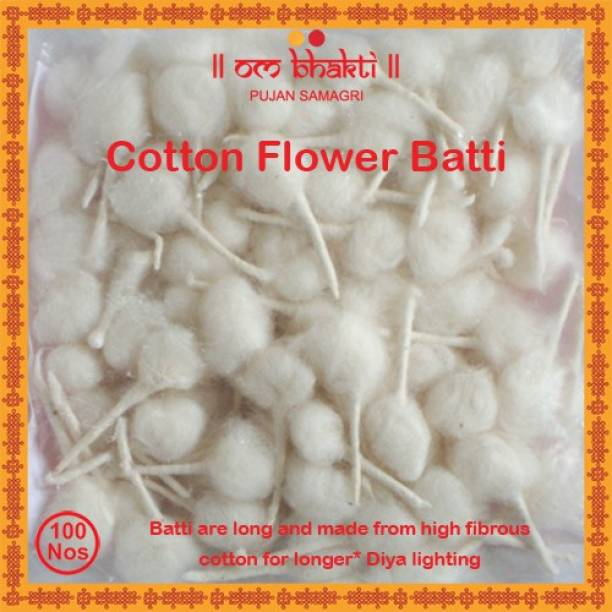 OM bhakti Flower Cotton Wick