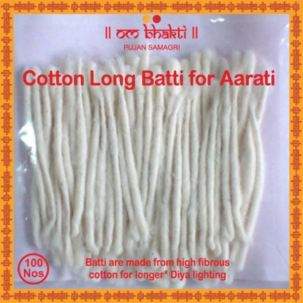 OM bhakti Long Cotton Wick