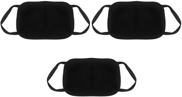 LDHSATI Anti Pollution White Carbon Activated Cotton Half Face Adjustable Particulate Mask for Sun, Dust & Allergy Protection Foldable Face Mask Branded Set Of 3 Pieces Dust/Anti Pollution Protective Face Mask Mouth & Nose Respirator Outdoor Elevation Training Mask (Free Size) Elevation Training Mask