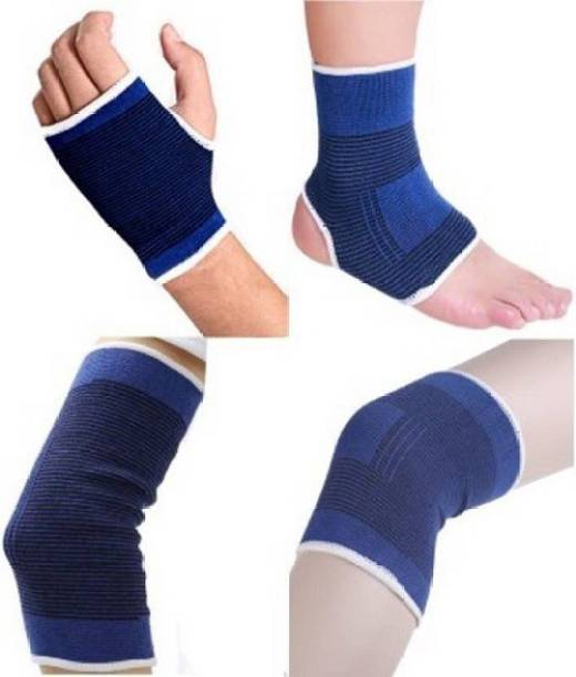 BANQLYN COMBO OFFER Of Knee,Palm,Elbow,Ankle Support For Gym Palm,