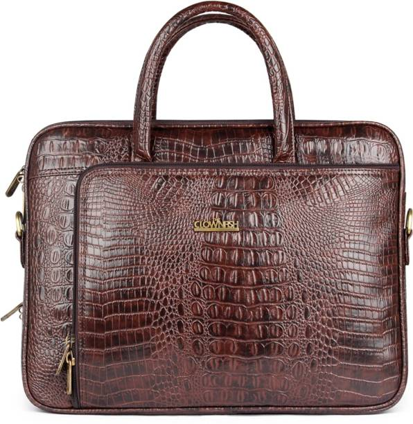 c94a3cb5db9c The Clownfish Crocodilan Laptop briefcase Medium Briefcase - For Men & Women