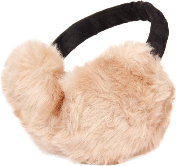 FabSeasons Faux Fur Winter Outdoor Accessory Foldable Ear Muffs / Warmer for Girls & Women for protection from Cold, Ideal Head /Hair Accessory during winters Ear Muff