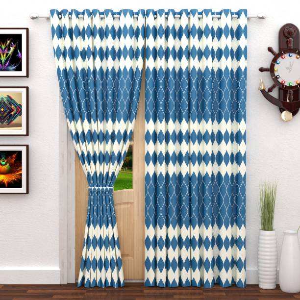 StoryHome 215 Cm 7 Ft Polyester Door Curtain Pack Of 2