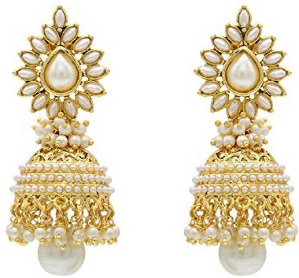 You Bella Stylish Fancy Party Wear Jewellery Earings Alloy Jhumki Earring
