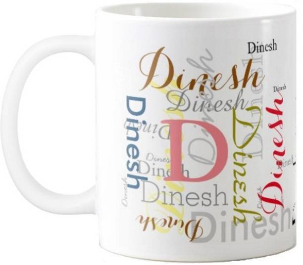 Exoctic Silver Dinesh Ceramic Coffee Mug