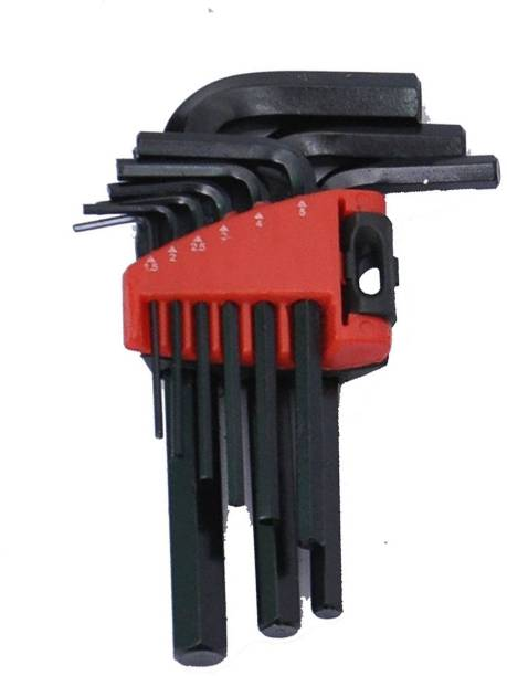 Digital Craft Ge-Tech 9 Pcs L-Shape Hex Key Repair Tools Powerful Type Allen Wrench Set High Quality Allen Key Set