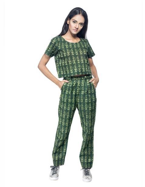 Traditional Vogue Women Two Piece Dress Green