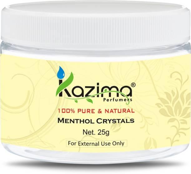 KAZIMA Premium Menthol Crystals 25 Gram - 100% Pure Natural