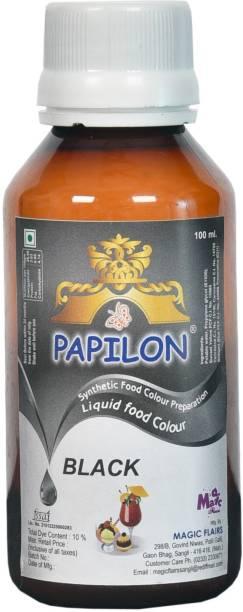 PAPILON Concentrated Liquid Food Colour BLACK 100ml Black