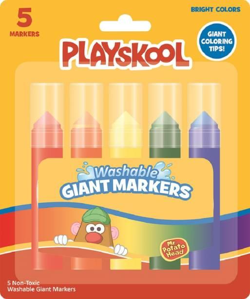 PLAYSKOOL 5 Ct Giant Markers For Kids Art Set