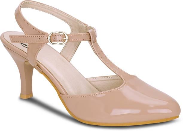 2c870341a147 Kielz Women Beige Heels