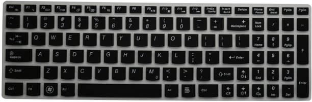 Saco Chiclet Keyboard Skin for Lenovo Ideapad 300-15ISK 80Q700E0IN 15.6-inch (Core i5-6200U/8GB/1TB/Windows 10/2GB Graphics), Silve Keyboard Skin